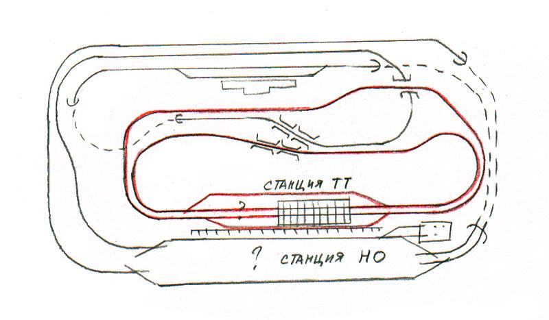 Путевые схемы макетов железных дорог