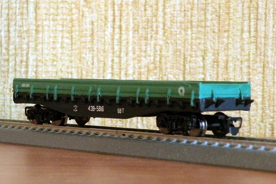 12мм - 4-осная платформа с металлическими бортами (малая серия)
