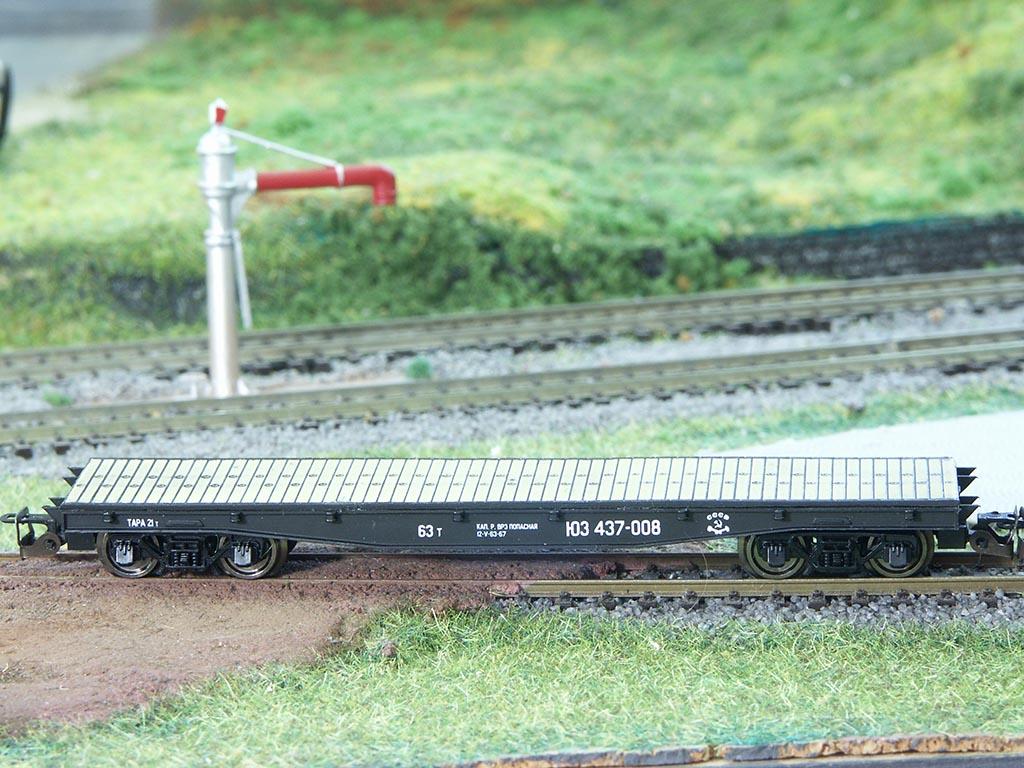 12мм - 4-осная платформа (мод. 13-401) с настилом
